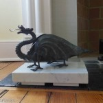 We made a base of 5cm white carrara to display this treasured dragon